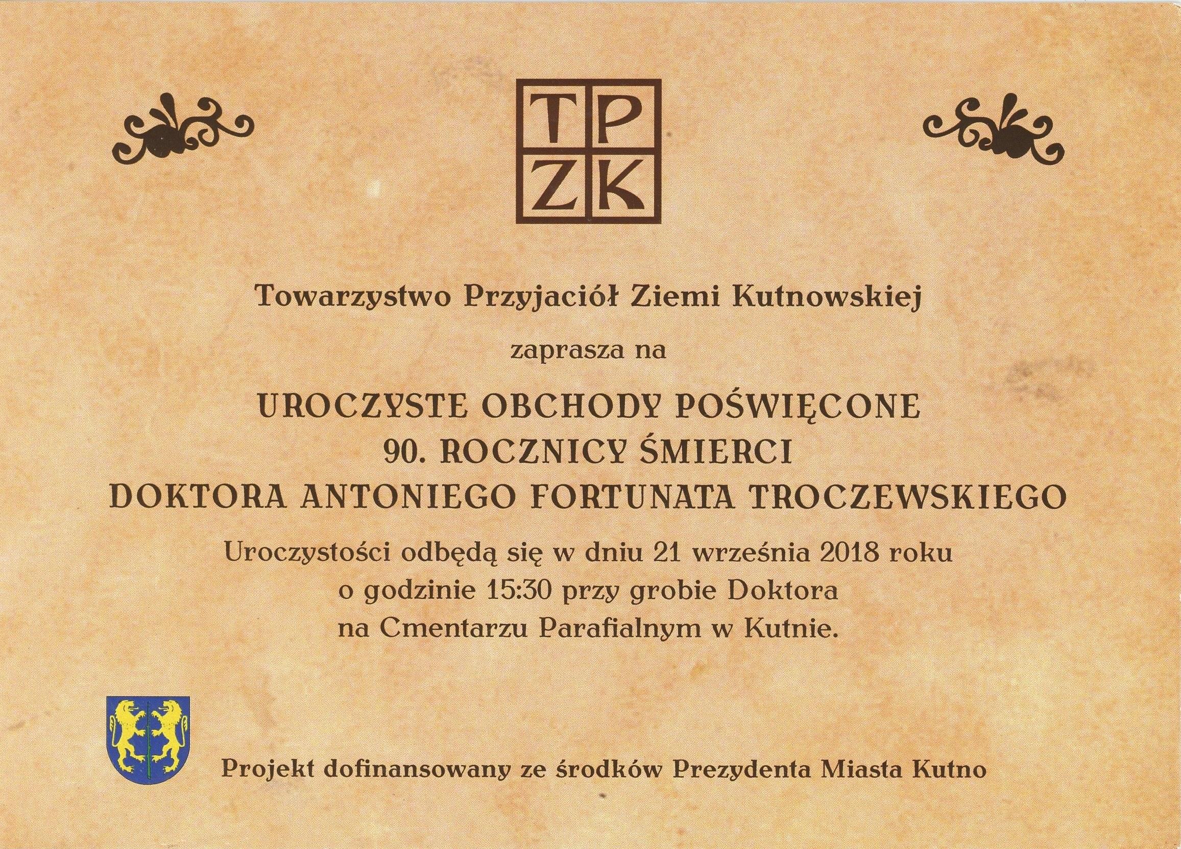troczewski 2018 90 rocznica śmierci2