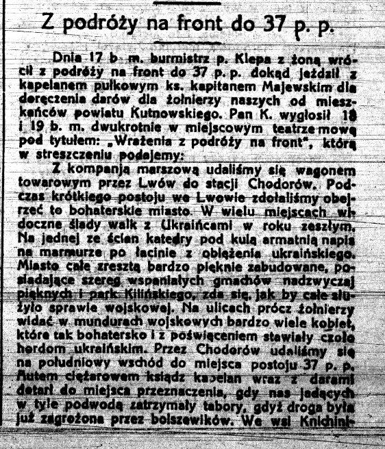 Images: TYGODNIK KUTNOWSKI NR 39 Z 22 08 1920 ROK.jpg
