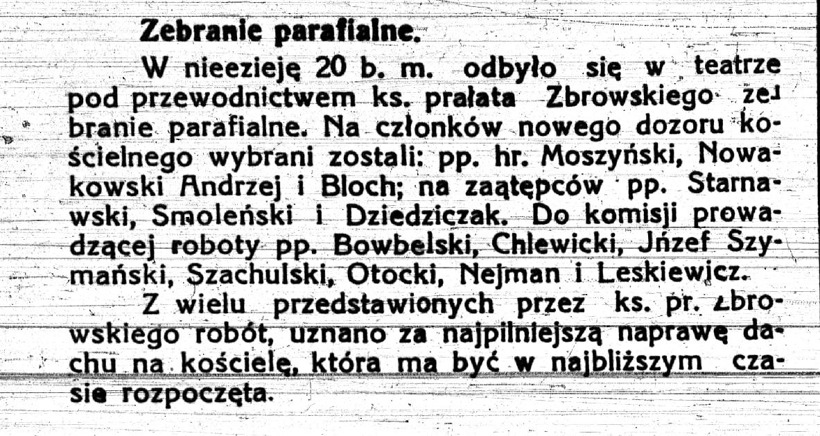 Tygodnik kutnowski nr 30 z 1919 roku rada parafialna.jpg